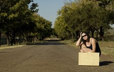 Free Sunglasses Next To Suitcase Royalty Free Stock Image - 2418456