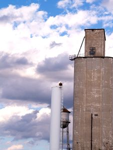 Wheat Silo Royalty Free Stock Photo