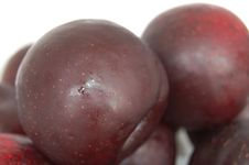 Deep Colour Plums Stock Photos