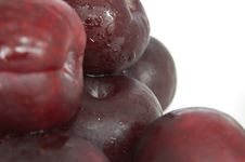 Deep Colour Plums Royalty Free Stock Images