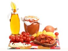 Free Yellow-orange And Red Vegetarian Food. Royalty Free Stock Photography - 24100337