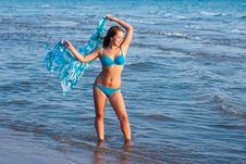 Free Young Girl On The Sea Royalty Free Stock Photography - 24100887