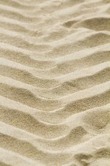 Tire Track Markings On The Beach Sand Royalty Free Stock Image