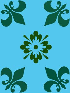 Free Vector Floral Background Royalty Free Stock Photos - 24101778