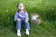 Free Girl With Rabbit Stock Photos - 24103183