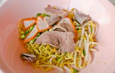 Free Asian Style Noodle With Pork Stock Images - 24103844