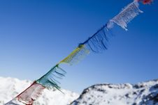 Free Tibetan Praying Flags Royalty Free Stock Photo - 24105595