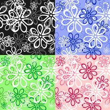Free Set Of Floral Seamless Backgrounds Stock Image - 24106951