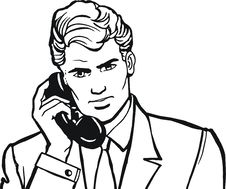 Illustration Of A Businessman, Stock Photo
