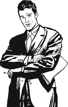 Illustration Of A Businessman, Royalty Free Stock Photography