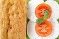 Free Focaccia Whit Caprese Mozzarella End Tomato Stock Photo - 24114780