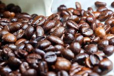Free Brown Coffee, Background Texture, Close-up Royalty Free Stock Image - 24110476