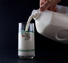 Free Cold Fresh Milk Stock Image - 24110781