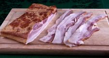 Fresh Sliced Bacon Royalty Free Stock Image