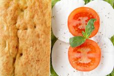Free Focaccia Whit Caprese Mozzarella End Tomato Stock Photo - 24114780