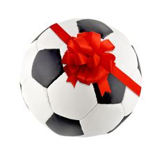 Free Ribbon Bow In Soccer Ball Royalty Free Stock Photos - 24115088