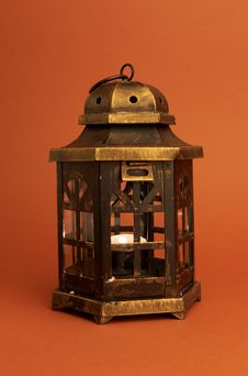 Free Burning Lantern Stock Image - 24116041