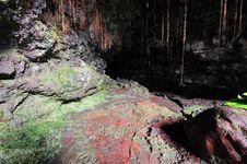 Free Entrance To Lava Tubes, Kaumana Caves Contry Park Royalty Free Stock Photography - 24116857