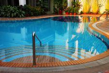 Free Swimming Pool Of The Luxury Resort Royalty Free Stock Image - 24119666