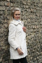 Free Upset Young Woman In White Fur Coat Royalty Free Stock Photos - 24120018