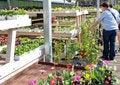 Free Lady Customer In Garden Centre Stock Photos - 24123823