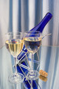 Free Two Crystal Glasses Of Wine Royalty Free Stock Photos - 24125568