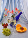 Free Two Glasses Of Wine Royalty Free Stock Photo - 24125575