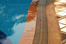 Free Floor Of Swimming Pool In The Luxury Resort Royalty Free Stock Image - 24120246