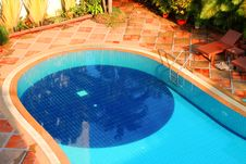 Free Swimming Pool Of The Luxury Resort Stock Photography - 24120302