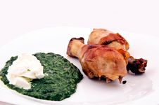Free Spanach Meal Stock Photos - 24120363