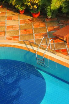 Free Swimming Pool Of The Luxury Resort Stock Photos - 24120493