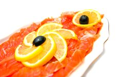 Free Fresh Smoked Salmon Close-up Royalty Free Stock Photography - 24121367
