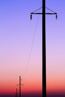 Free Power Line Royalty Free Stock Images - 24122279