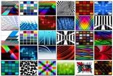 Free 30 Screens With 3D Renders Royalty Free Stock Photography - 24123047