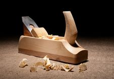 Free Carpenter Plane With Shavings Stock Photos - 24123363