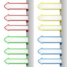 Free Colorful Pointing Arrows 2 Stock Images - 24123394