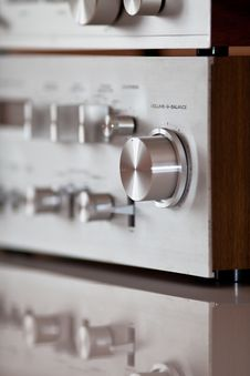 Free Analog Stereo Volume Knob Control Stock Image - 24123421