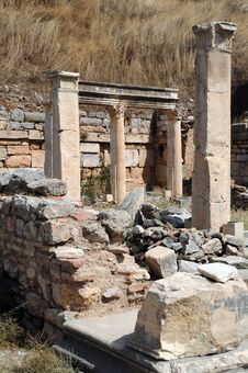 Piece Of Ancient Ruins In Ephesus Royalty Free Stock Photography
