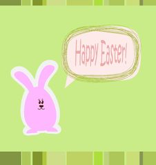 Free Happy Easter Card Royalty Free Stock Photos - 24124028