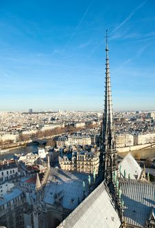Free Skyline Of Paris From Notre Dame Royalty Free Stock Image - 24125266