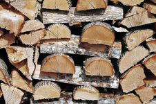 Free Stacked Fire Wood Stock Photography - 24125982