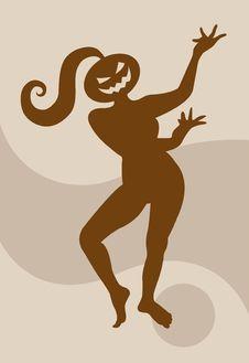 Dancing Pumpkin 11 Royalty Free Stock Image
