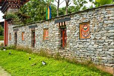 Free Bhutan Wall Royalty Free Stock Images - 24129079