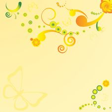 Free Abstract Summer Floral Background Royalty Free Stock Photography - 24129377