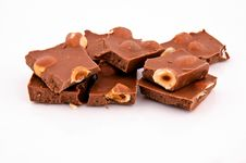 Free Chocolate And Nuts Royalty Free Stock Photos - 24129658