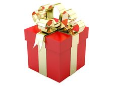 Free Red Gift Box Stock Photography - 24129962