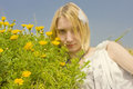Free Girl With Daisies Stock Images - 24134154