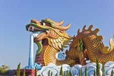 Large Dragon Sculpture Stock Images