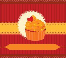 Free Cupcake Invitation Card Stock Photos - 24133503
