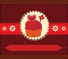 Free Cupcake Invitation Card Royalty Free Stock Photos - 24133558
